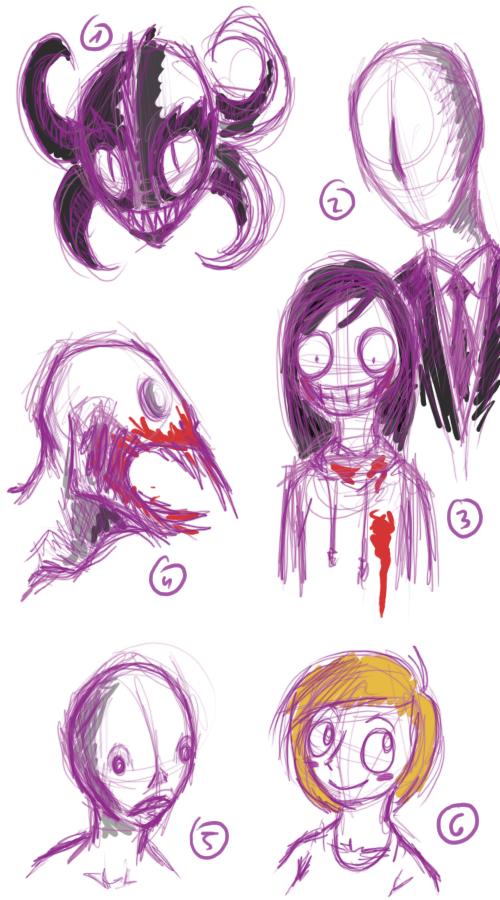 creepypasta sketches by WheatPodlaska