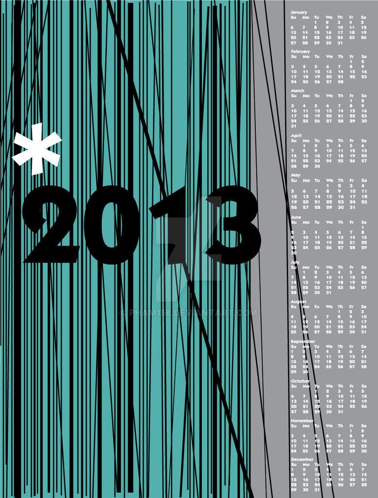2013 Calendar by pham158