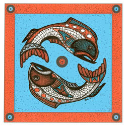Tribal Series #1-Fish