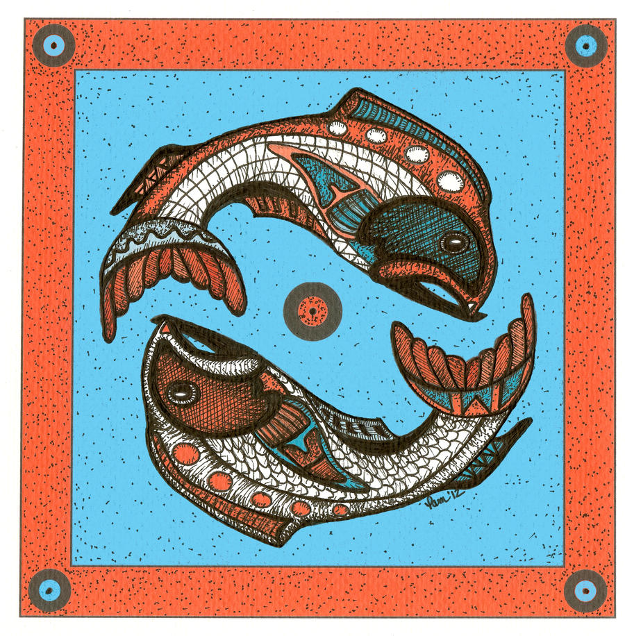 Tribal Series #1-Fish by pham158