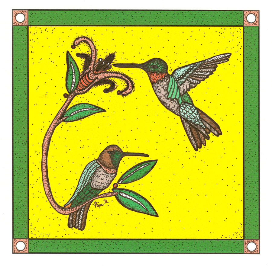 Tribal Series #2-Humming Birds by pham158