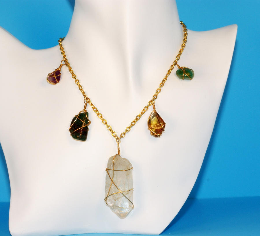 Wire Wrapped Stone Necklace by emmagraydesigns on DeviantArt