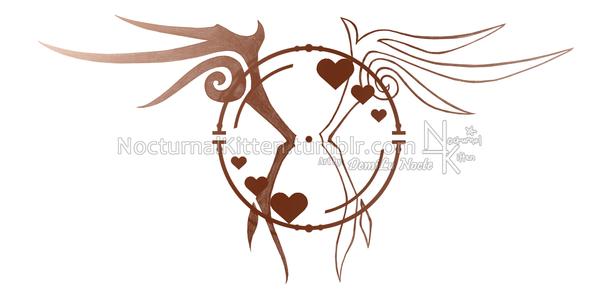 tattoo together forever by nocturnalkitten art on deviantart. Black Bedroom Furniture Sets. Home Design Ideas