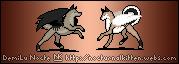Pixel Wolves by NocturnalKitten-Art