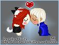 Pixel - Chibi Kiss by NocturnalKitten-Art