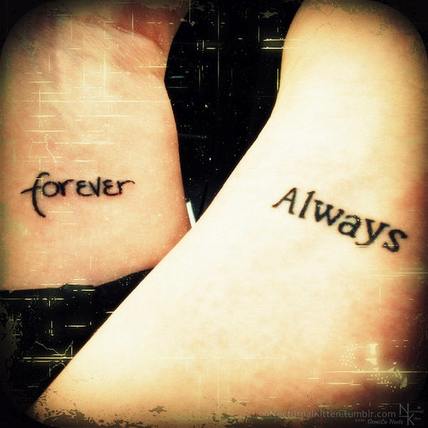 19c8ba8af Tattoo - Forever and Always by NocturnalKitten-Art on DeviantArt