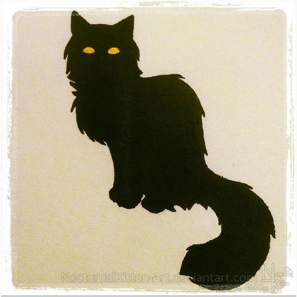 Inktober - Black Cat by NocturnalKitten-Art