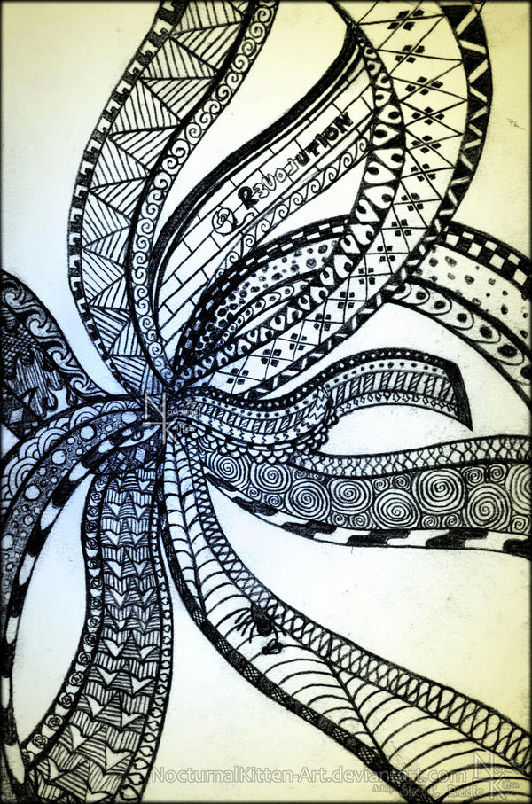 Zentangle by NocturnalKitten-Art