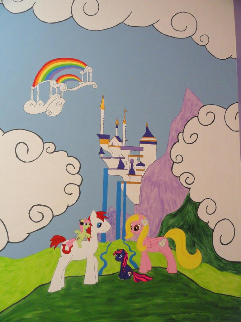 my little pony mural by righteousbabet on deviantart. Black Bedroom Furniture Sets. Home Design Ideas