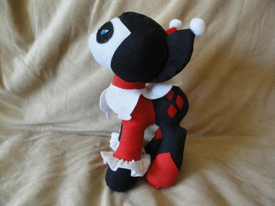 Harley Quinn Custom Pony Plushie by RighteousBabet