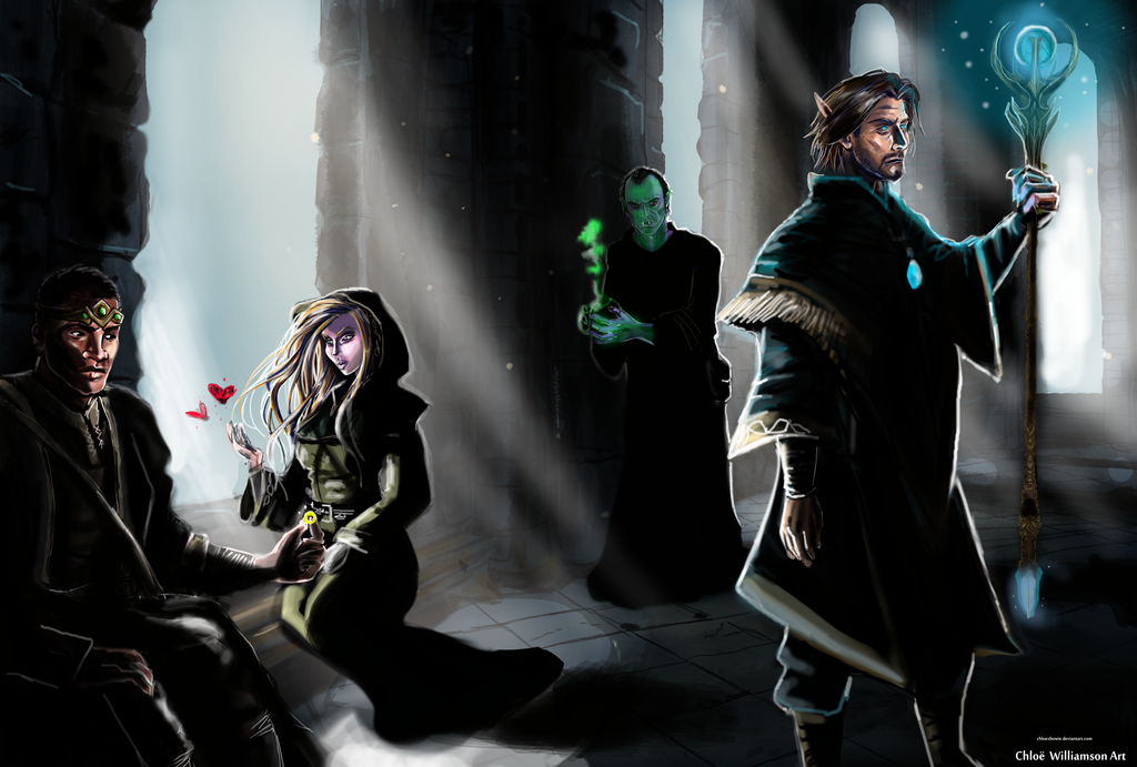 Mages In The College Of Winterhold By Chloexbowie On