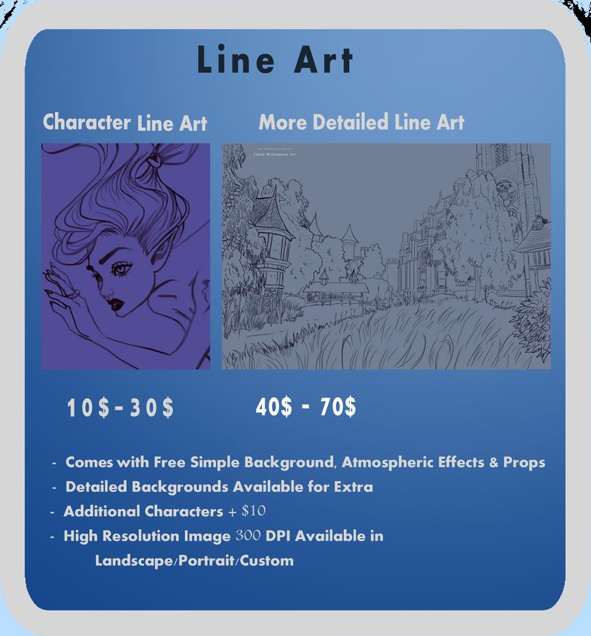 Line Art Information : Line art commission info by chloexbowie on deviantart