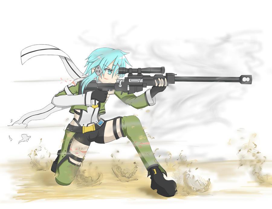 Sinon sniper girl by exiaconquista on deviantart - Anime sniper girl ...
