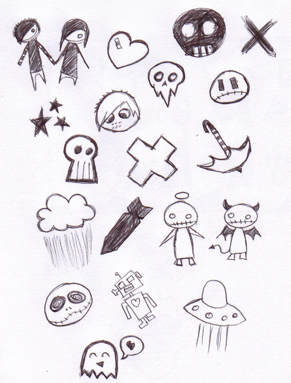 Cute cartoon background by x spooky x on deviantart for Cute little doodles to draw