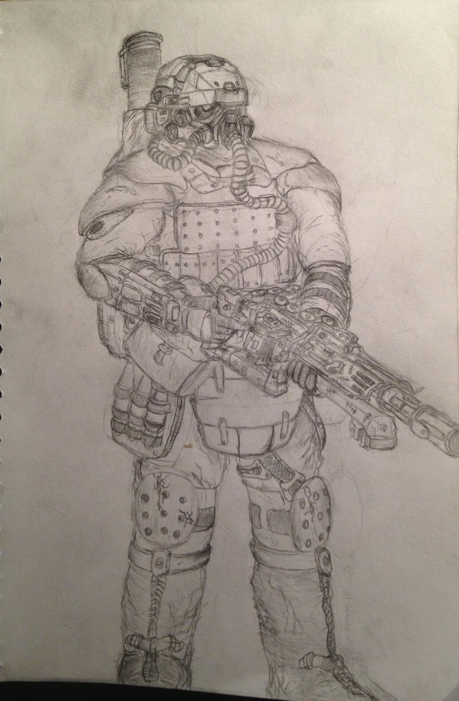 Helghast Support Trooper (VS5 Arc rifle) by fish333