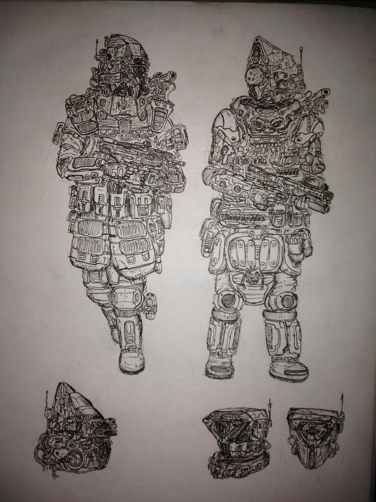 Shock Trooper (in development) by fish333