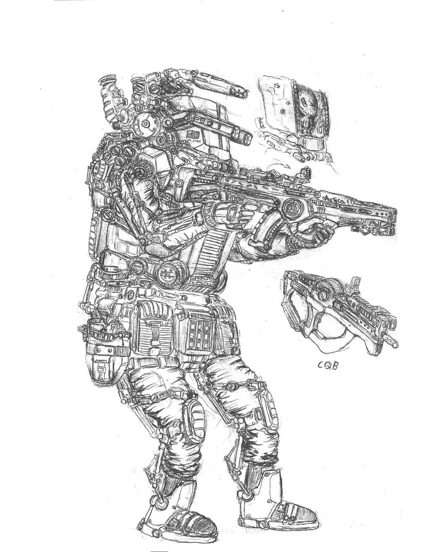 Mechanised Trooper by fish333