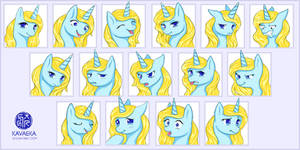COMMISSION: Summer Expression Sheet
