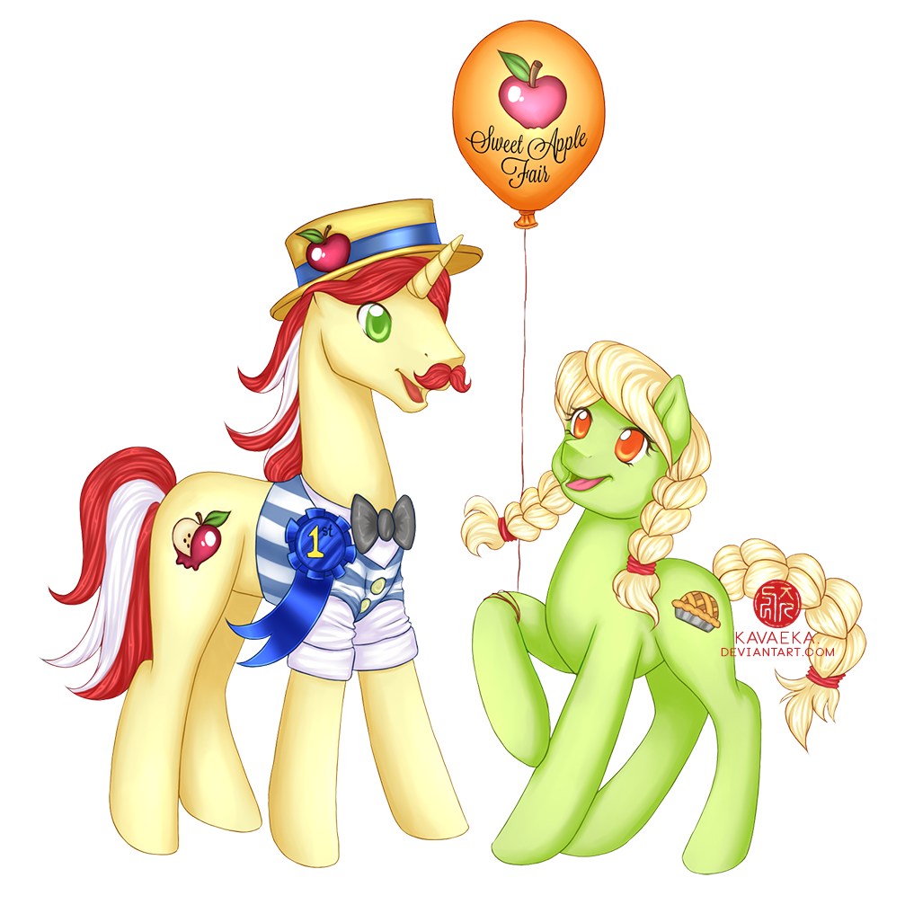COMMISSION: Flam and Young Granny Smith by Kavaeka
