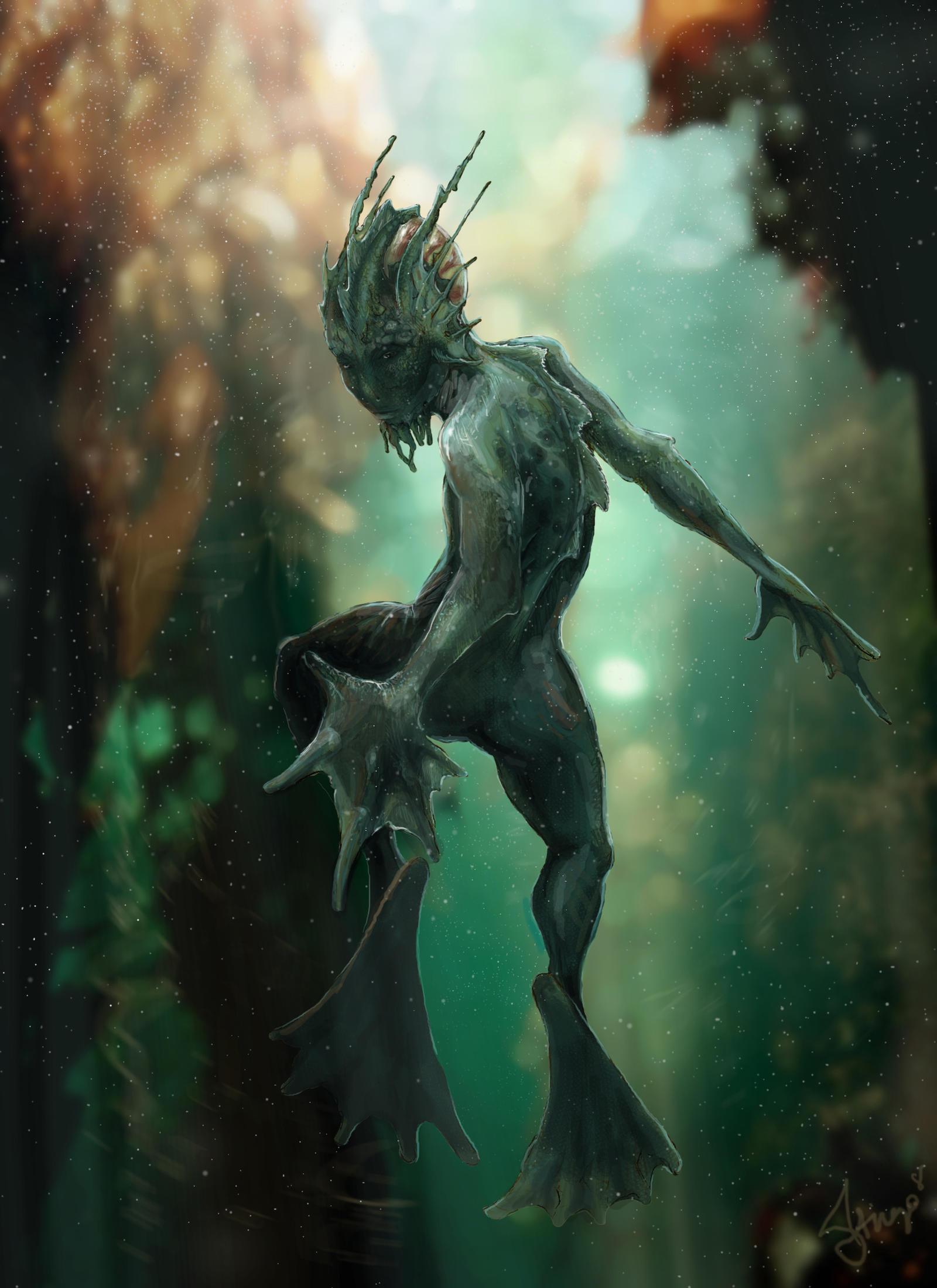 Amphibianman by adlovett
