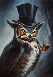 Sophisticated Owl by adlovett