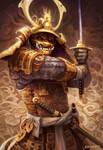 Golden Samurai by adlovett