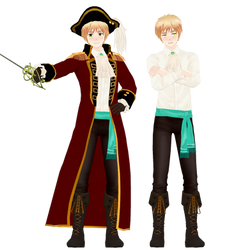 MMD - Pirate!England (Full Reference) by Smachiefish