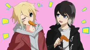 .:Owari no Seraph OC Collab:. Natsu and Kuroo