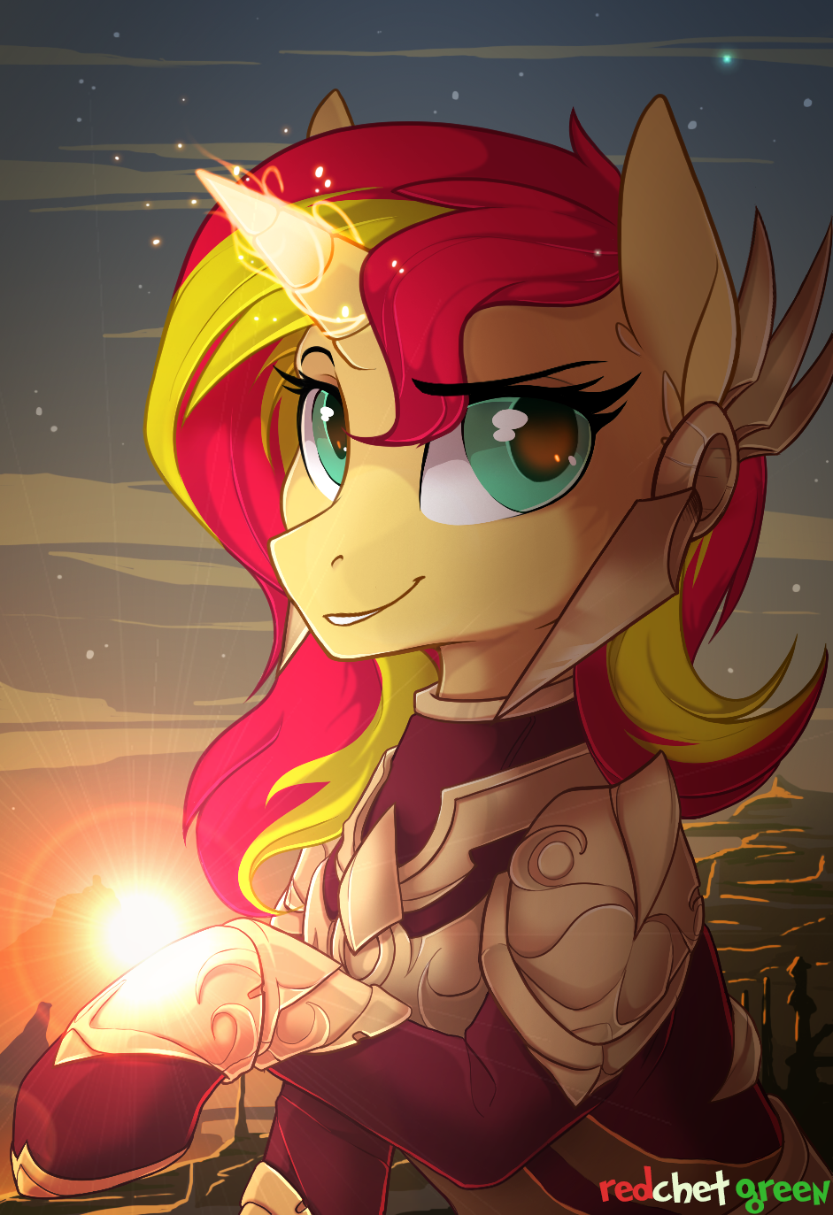 Sunset Shimmer x Leona by RedchetGreen