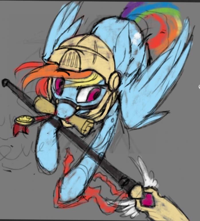 rainbow dash sketch by RedchetGreen