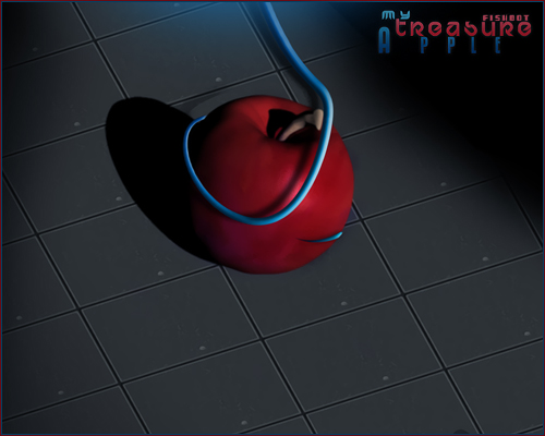 3D apple by FISHBOT1337