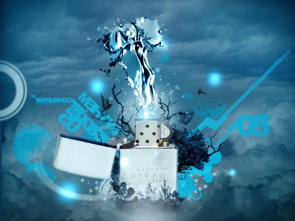 Water zippo by FISHBOT1337