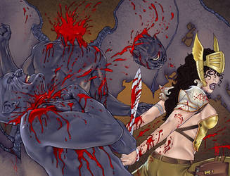 War Goddess 3 wraparound cover by MDiPascale
