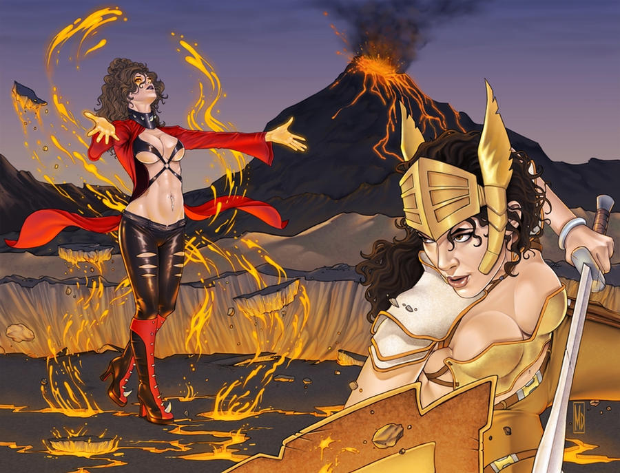 War Goddess 4 wraparound cover by MDiPascale