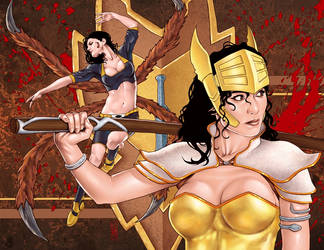 War Goddess 8 wraparound cover by MDiPascale
