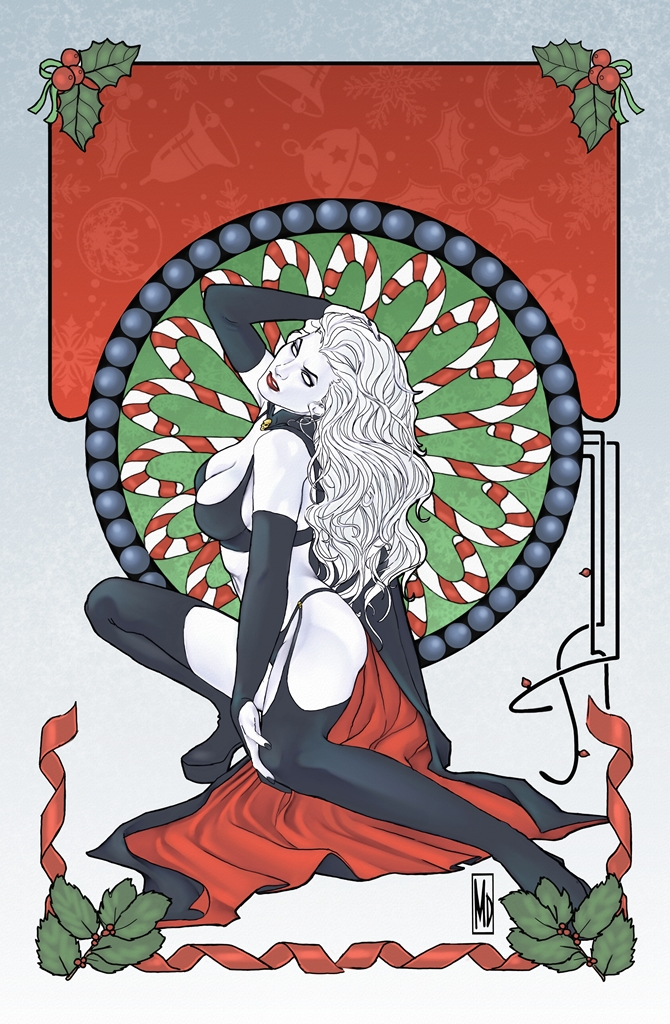 Lady Death Christmas edition cover by MDiPascale