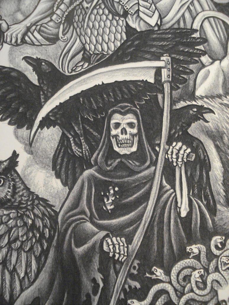 Death with Ravens by SirSamael