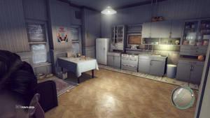Mafia II USA 1940s kitchen interior