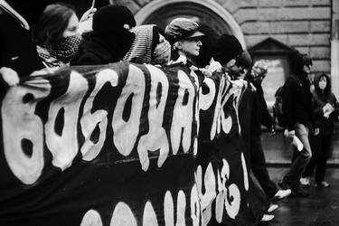 Anarchist demonstration by mariashooter