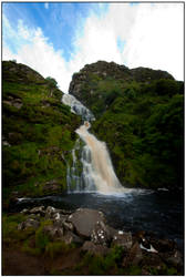 Assarnacally Waterfall by mojographics