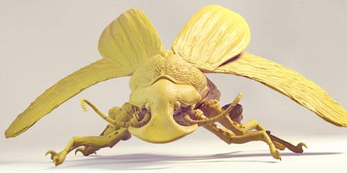 Boar beetle by flioink
