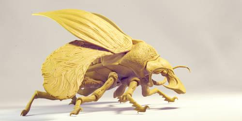 Boar beetle,side by flioink