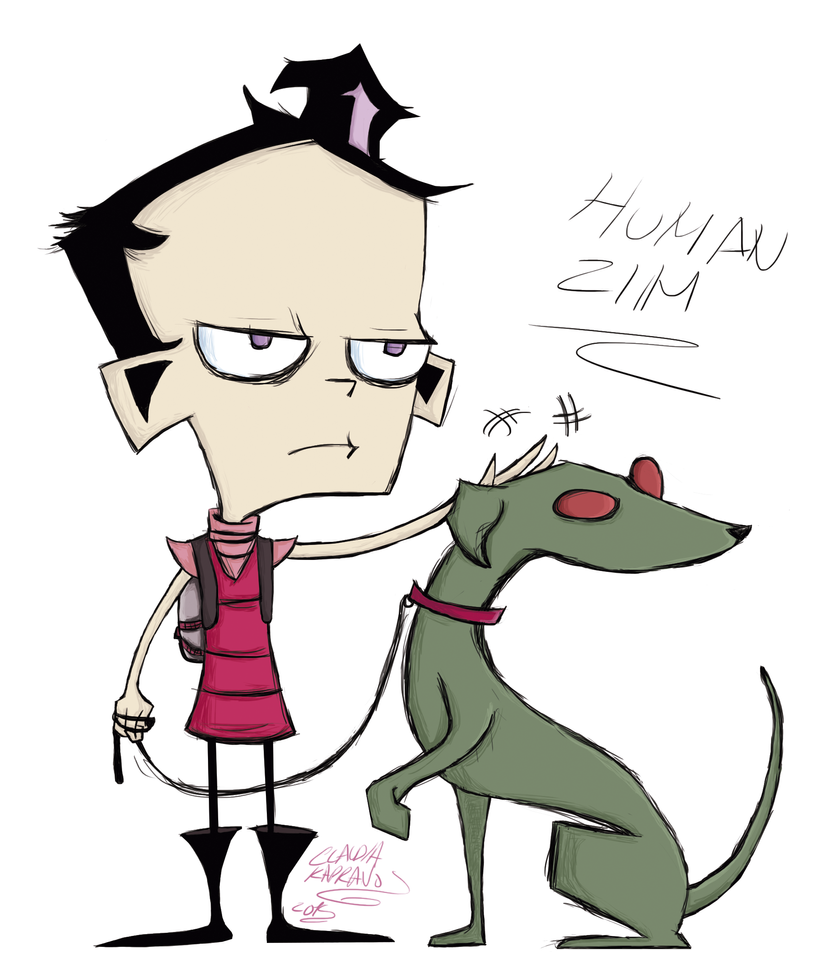 how to draw dib from invader zim