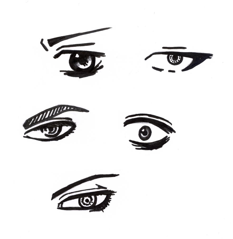 anime male eyes - 883×905