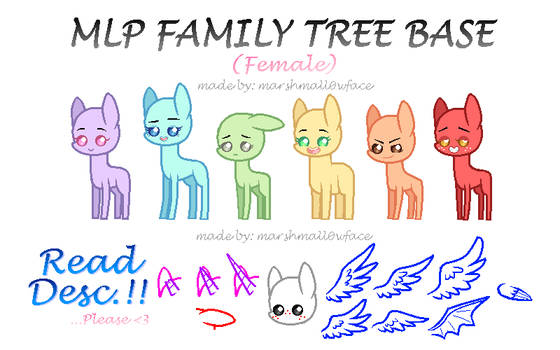 MLP Family Tree Base (Female)