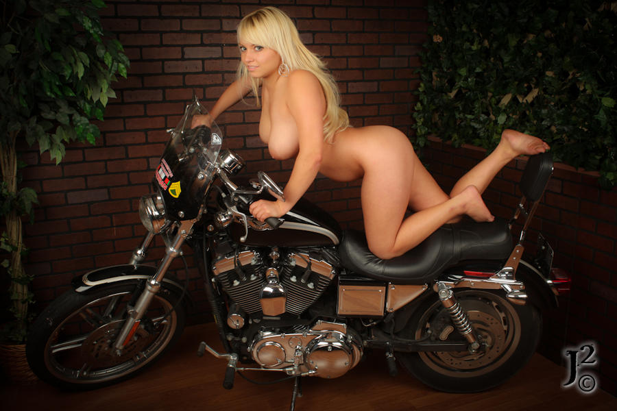 Opinion you Girl naked on harley davidson commit error