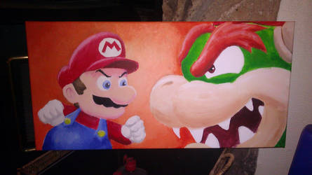 Mario vs Bowser by robertrowe