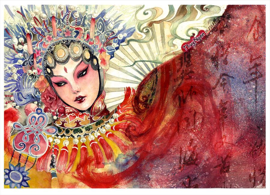 Peking Opera Artist's Teardrop by thuyngan