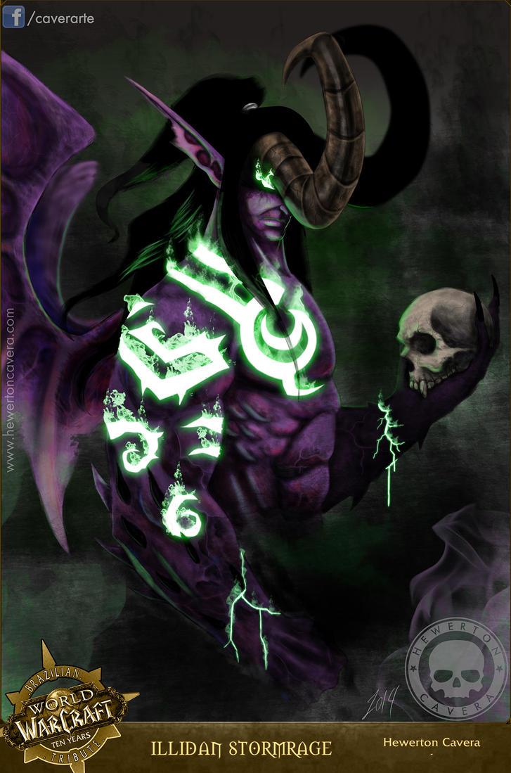 Illidan Stormrage - Collab World of Warcraft by CA-V-RA