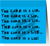 The Cake Is A Lie Post-It by Fraylen